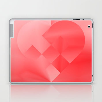 Danish Heart Love Laptop & iPad Skin by Gréta Thórsdóttir  #love #heart #girly #kids #red #scarlet #ombre #pattern #ipad