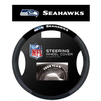 Seattle Seahawks Poly-Suede Steering Wheel Cover