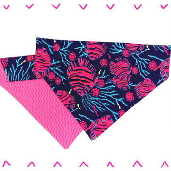 Lilly Pulitzer dog bandana - Bright Blue Jammin