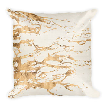 Brooke III Ivory & Gold Bohemian Pillow
