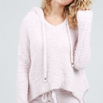Berber Pullover Hoodie Powder Pink by POL Clothing