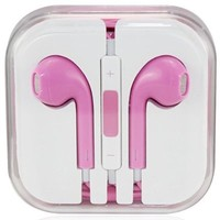 Pink Earpods Earbuds with Remote and Mic for Iphones, Ipads, Ipods, Nano, Kindle