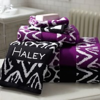 Urban Ikat Bath Towels