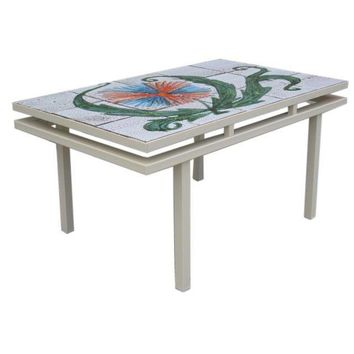 Pre-owned Charming Mid-Century French Tiled Coffee Table