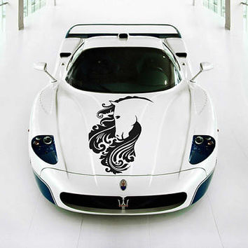horse car hood decal horse Car Decals horse Car Truck horse Side Body Graphics Decal horse Sticker for car kikcar47
