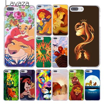 Lavaza The Lion King Fashion Hard Skin Phone Cover Case for Apple iPhone 10 X 8 7 6 6s Plus 5 5S SE 5C 4 4S Coque Shell