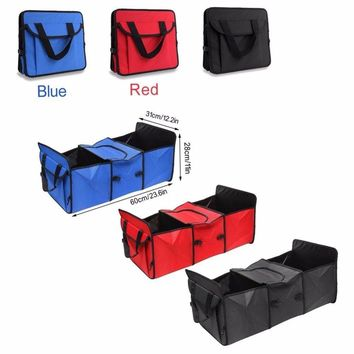 Storage Cargo Basket Car Truck Cooler Set Organizer SUV Trunk Fabric Foldable Container Bag Box Sets