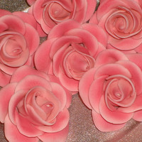 "Gumpaste Roses 1 1/2""  for  Cakes, Cup Cakes and Cake Pops"