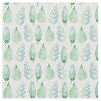 Watercolour Leaves Pattern Fabric