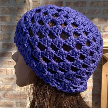Ready to Ship - Womens Hat - Womens Beanie - Juliet Cap in Purple