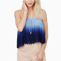 Heavenly Touch Cropped Top $25