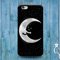 Pretty Moon Sun Star Cover Cute Funny Hug Case iPod iPhone Black White Adorable