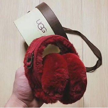 UGG women trendy earmuffs trendy F RED