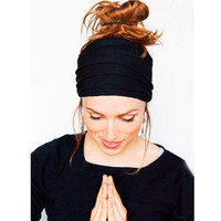 2016 New Women Wide Sports Yoga Nonslip Headband Stretch Boho Hairband Elastic Turban Running Headwrap Hair Band Accessories