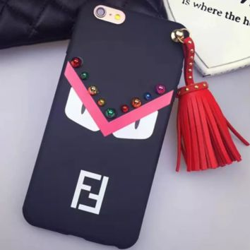 FENDI Crazy Tassel Pendant iphone7plus Phone Case NO.3