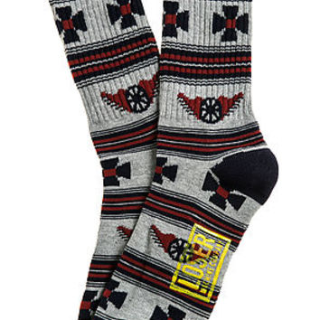 The Outlaw Socks in Grey Heather