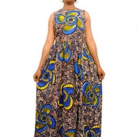 African Print Maxi Dress - african clothing for women - african fashion - africanclothes - ankara dresses