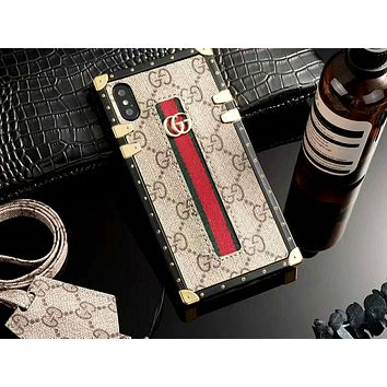 GUCCI Tide brand all-inclusive iPhone Xs Max mobile phone case cover