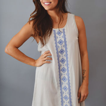 Magnolia Embroidered Tank Dress