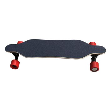 H2A-01 Remote Control PU Wheel Electric Skateboard Single Motor with Red Four Wheels & 4400mAh Long-lasting Lithium Battery
