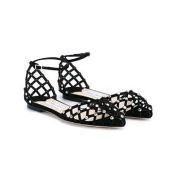 JIMMY CHOO | Davinia Flat Suede Sandals | Womenswear | Browns Fashion