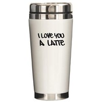 LATTE Ceramic Travel Mug> coffee