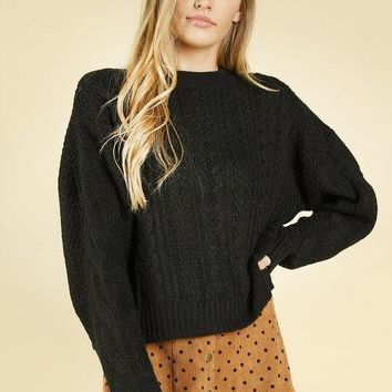 Outside The Box Sweater in Black