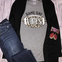 Leopard Football Gameday Vibes Graphic Tee (S-2XL)