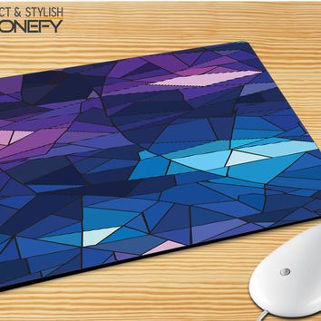 With Blue Glass Design Mousepad Mouse Pad|iPhonefy