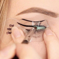 2 Pcs Magic Eyeliner Stencil Model Beginner Eye Makeup