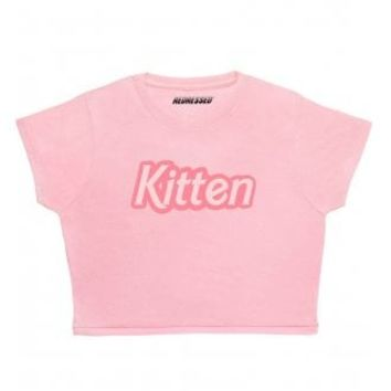 Redressed Kitten Crop Top | Attitude Clothing