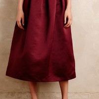Maeve Alcina Midi Ball Skirt in Wine Size: