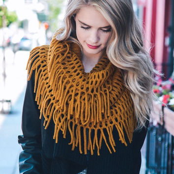 Chenille Tassel Infinity Scarf - Multiple Options