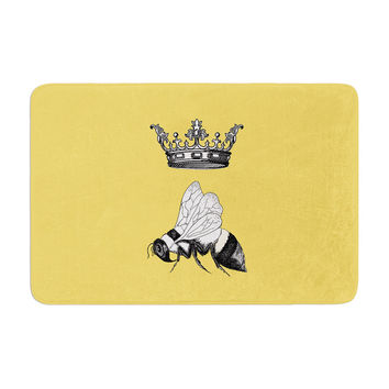 "Catherine Holcombe ""Queen Bee"" Canary Yellow Memory Foam Bath Mat"