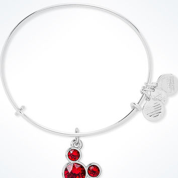 Disney Mickey Mouse Birthstone Bangle by Alex and Ani July Silver Finish New
