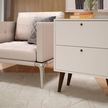 Taby 2- Drawer Nightstand in White