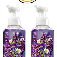 Bath & Body Works Fresh Lavender Soap - Pack of 2 Lavender Scented Gentle Foaming Hand Soaps