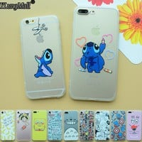 Fundas Coque Case for iphone 6 6s 6plus 7 7plus SE 5 5s Case Capa Stitch Totoro Hard Back Soft Frame Cover Phone Cases