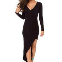 Sheila Midi Dress in Black