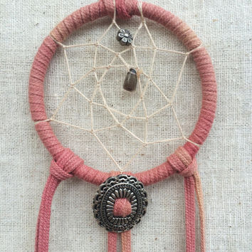 Mini Handmade Country Western Dream Catcher- Cowgirl Dreamcatcher
