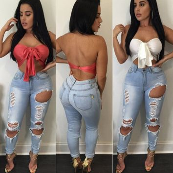 Cool Ripped High Waist A pair of jeans