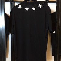 GIVENCHY Black and White 5 Stars T-shirt  ★ 022