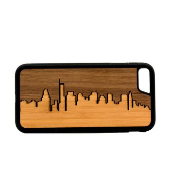 Slim Wooden Phone Case | Boston Skyline Traveler