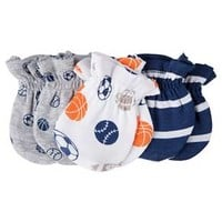 Gerber® Baby Boys' 3-Pack Sports Mittens - Navy