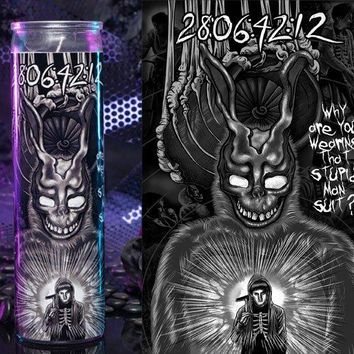 Donnie Darko, Frank the Bunny, Jake Gyllenhaal Prayer Candle, Gift Idea, Gifts for Him, Gifts for Her, Best Scented Candles,
