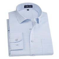 New Fashion Men's Linen Shirt Male Casual Dress Shirts Men's High Quality Full Sleeve Shirt