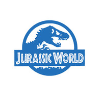 Jurassic World car, truck vinyl decal silhouette