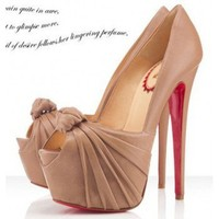 Christian Louboutin Lady Gres 160mm Beige
