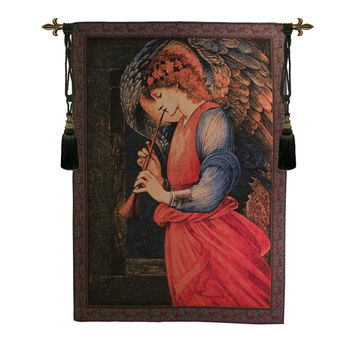 Flageolet Angel I Tapestry Wall Hanging