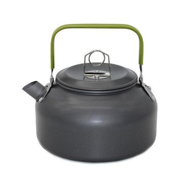 New 1 Pc 1.2l Aluminum Tea Kettle Cookware Set Camping Pot Teapot Use For Outdoor Camping Cooking Tools Veo69 T0.3